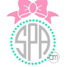 bow monogram shop monogram bow on wanelo