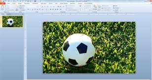 free soccer ball photo for powerpoint
