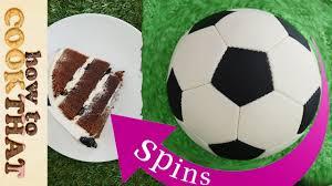 football cake spinning football cake soccer how to cook that reardon