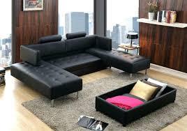 canap lit cuir noir lit cuir noir canape lit cuir noir canapac dangle droit convertible