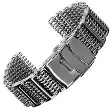 black mesh bracelet images Genuine h link shark mesh watch strap geckota watchgecko jpg