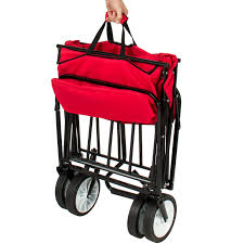 Small Canopy by Folding Wagon W Canopy Garden Utility Travel Collapsible Cart