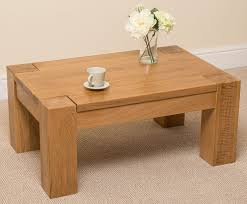 wooden living room furniture kuba chunky solid oak wood large coffee table unit wooden living