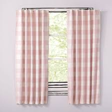 Pink And White Curtains For Nursery Curtain White Blackoutains For Nurserywhite Nursery