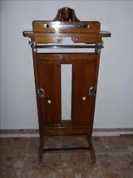 valet de chambre ancien ancien valet de chambre nuit a roulettes bois hêtre chrome vintage