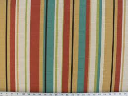 Striped Drapery Fabric Indoor Outdoor Umbrella Fabric Scarlet Red Stripe Fabric