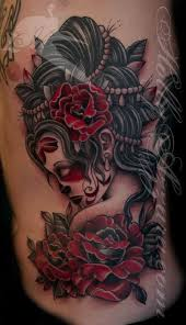 44 best red and black gothic rose tattoo on side images on
