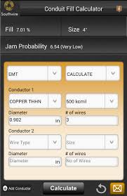 Conduit Fill Table Southwire Conduit Fill Calc Android Apps On Google Play