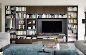 librerie muro parete libreria soggiorno di design agel arredo design