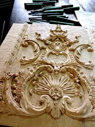 wood appliques cherub cartouche solid wood appliques made in the