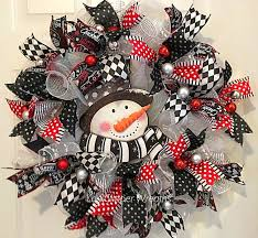 Decorating Christmas Wreaths With Mesh by 662 Best Winter Deco Mesh Wreaths Images On Pinterest Deco Mesh