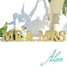 Mr And Mrs Sign For Wedding Aliexpress Com Buy Mr U0026 Mrs Letters Mr U0026 Mrs Sign Mr And Mrs