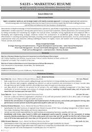 Sales Marketing Resume Sample by Sales And Marketing Resume Sample Free Resume Example And