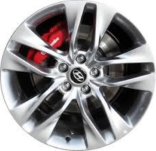 silver hyundai genesis coupe aly70842u78 hyundai genesis coupe wheel hyper silver 529102m330