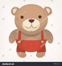 colorful teddy bear birthday present child stock vector 528844774