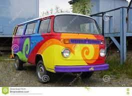 vintage volkswagen truck a vintage volkswagen vw camper van painted with psychedelic