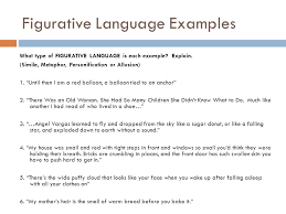 review of figurative language simile metaphor allusion and