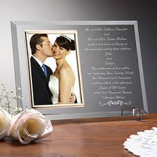 personalized wedding photo frame personalized wedding invitation glass picture frame