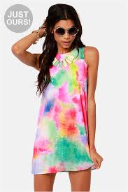 colorful dress colorful tie dye dress print dress shift dress 43 00