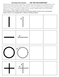 pre writing strokes worksheets edukacyjne pinterest