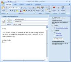 Sample Email Message With Attached Resume by Attaching Outlook Messages To Netsuite Records Explore Consulting