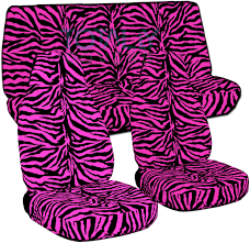 pink jeep 2 door jeep wrangler yj tj jk 1987 2017 animal print seat covers full set