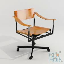 mid century office chair by atelier viollet u2013 3d model