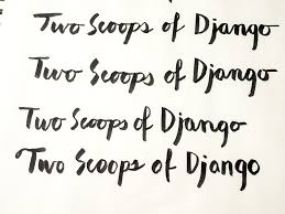the art of a roy greenfeld hand lettering for two scoops 1 8