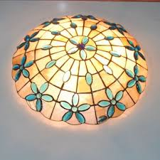 shell ceiling light 16 inches shell style flush mount ceiling light with