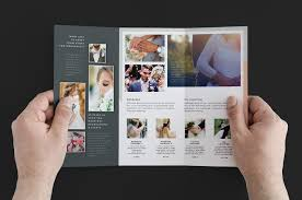 Wedding Magazine Template Wedding Photographer Trifold Brochure Template V3 Brandpacks