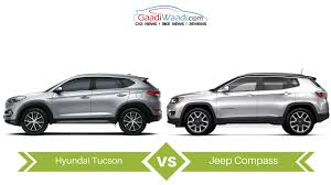 jeep crossover jeep compass vs hyundai tucson specs comparison