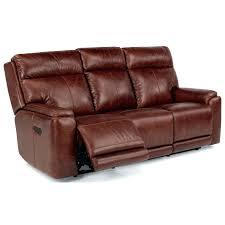 Flexsteel Reclining Leather Sofa Flexsteel Leather Sofa Recliner Brightmind
