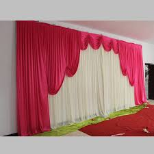 Wedding Backdrops Aliexpress Com Buy Pink Wedding Backdrop Swag Only For