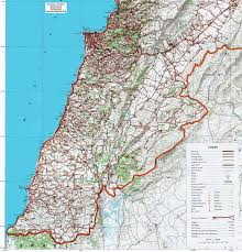 lebanon on the map map of south lebanon detailed