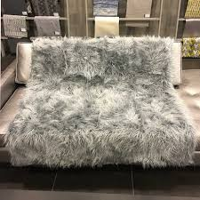 fur throws for sofas gigi luxurious shaggy faux fur throw blanket 12 colors