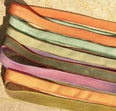 dyed ribbon dyed and sewn silk ribbons by jamn glass on etsy arts and