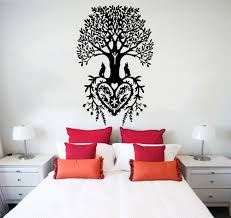 wall decal tree roots wolf vinyl sticker decals