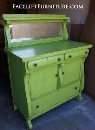lime green refinished furniture facelift furniture