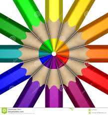 pencil color wheel stock illustration image of wheel 10477916