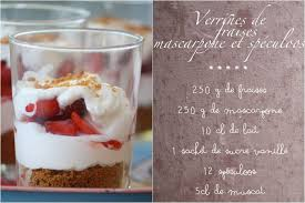 comment cuisiner le mascarpone verrines de fraises et spéculoos sur une chantilly de mascarpone