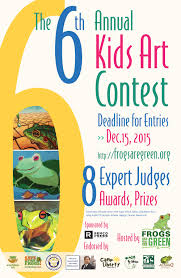 6th annual frogs are green kids art contest frogs are green