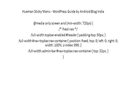 Sticky Top Bar Hueman Sticky Menu Wordpress Guide By Android Blog India