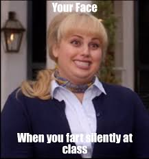 Fat Amy Memes - fat amy your face when you fart silently at class weknowmemes