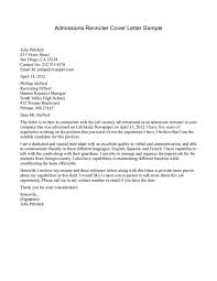 how to write a cover letter for recruiter position how to