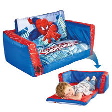 spiderman flip out sofa childrens extends lounger bed official ebay