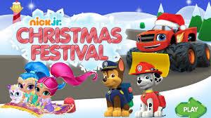 shimmer shine paw patrol blaze christmas festival party nickjr