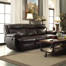 leather reclining sofa interior design