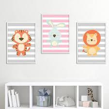 toile chambre enfant décoration poster toile tigre déco chambre enfant bébé trendisy