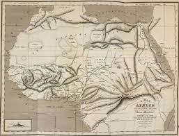 africa map review mastering the river niger macqueen s map of africa and the