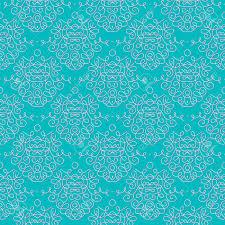 vintage damask seamless pattern with swooshes wedding invitation